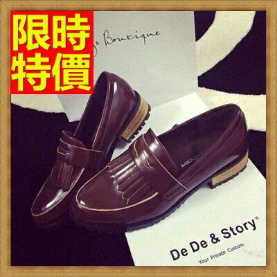 ☆牛津鞋女皮鞋-復古流蘇低跟英倫女鞋子2色65y62【獨家進口】【米蘭精品】
