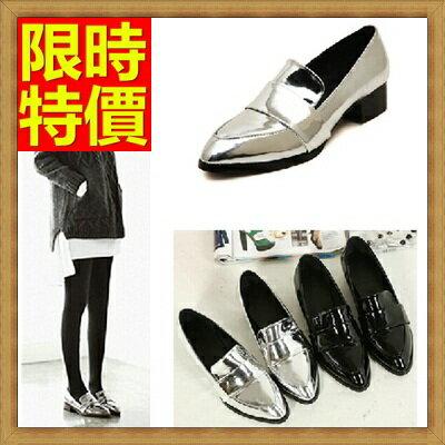 ~牛津鞋女皮鞋~尖頭漆皮復古英倫女鞋子2色65y65~ ~~米蘭 ~