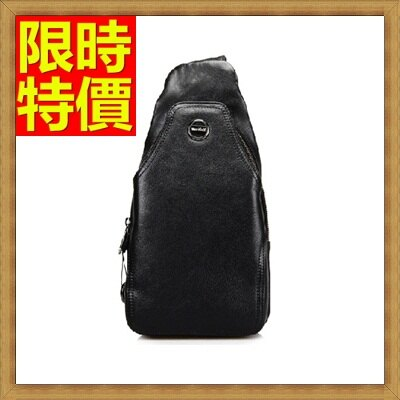 胸包  真皮斜背包-山羊皮時尚運動設計男肩背包3色66a36【獨家進口】【米蘭精品】