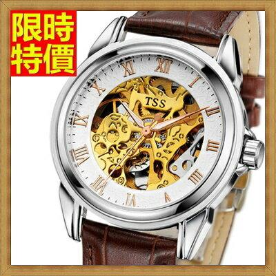 機械錶 手錶~陀飛輪自動精美鏤空 商務男士腕錶2款66ab5~ ~~米蘭 ~