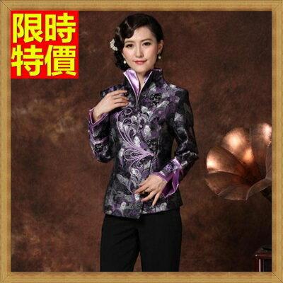 唐裝中式禮服(單上衣)-別緻雙層立領精緻美人圖印花女裝3色66ac11【上海進口】【米蘭精品】