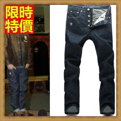 ~牛仔長褲休閒褲~明星同款直筒修身簡單深色單寧男褲子66ad45~ ~~米蘭 ~