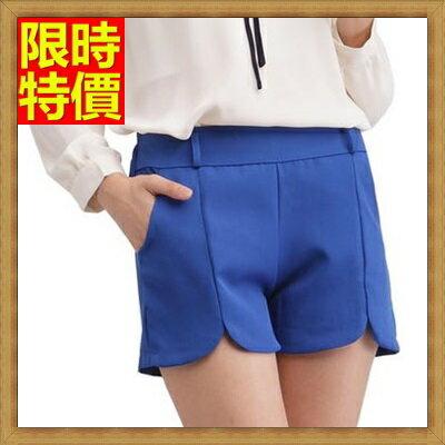 ★短褲西裝褲-休閒糖果色鬆緊帶舒適女褲子3色66ai36【獨家進口】【米蘭精品】