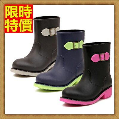 ★中筒雨靴子雨具-韓版簡約糖果色撞色女雨鞋子3色66ak44【獨家進口】【米蘭精品】 0