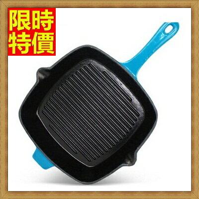 鑄鐵鍋  平底鍋具-平底無塗層生鐵烤盤電磁爐通用煎盤2色66f10【獨家進口】【米蘭精品】
