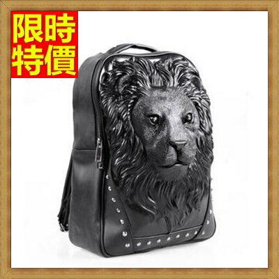 ☆後背包 雙肩包-時尚潮流獅頭獨特男女包包3色66m11【獨家進口】【米蘭精品】
