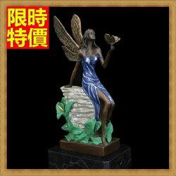★銅雕擺件花精靈-開業禮品家居裝飾雕塑工藝品2色66v37【獨家進口】【米蘭精品】