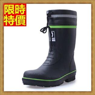 ☆中筒雨靴雨具-鋼包頭防砸防碰耐磨安全男雨鞋2色67a29【獨家進口】【米蘭精品】