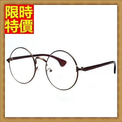 ★眼鏡框眼鏡架-復古潮流克羅心圓框男女配件4色67ac23【獨家進口】【米蘭精品】 2