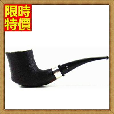 ~煙斗彎式菸具~菸斗男士 麻面石楠木 版煙具67c32~ ~~米蘭 ~