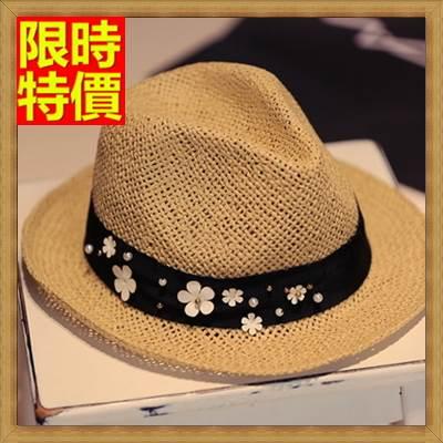 <br/><br/>  ☆爵士帽小禮帽-時髦夏季沙灘遮陽花朵編織女帽子67e12【獨家進口】【米蘭精品】<br/><br/>