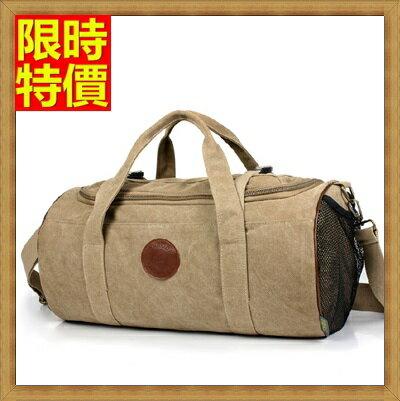 帆布包 肩背包-運動休閒大容量圓筒男包包2色67g49【獨家進口】【米蘭精品】