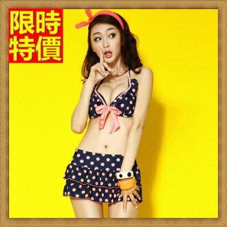 比基尼 泳衣-復古點點夏日流行三件式女泳裝2色67h10【獨家進口】【米蘭精品】