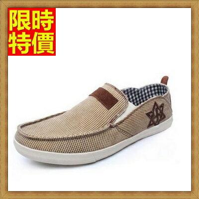 帆布鞋休閒鞋-英倫休閒風純色布面透氣男帆船鞋3色67l43【獨家進口】【米蘭精品】