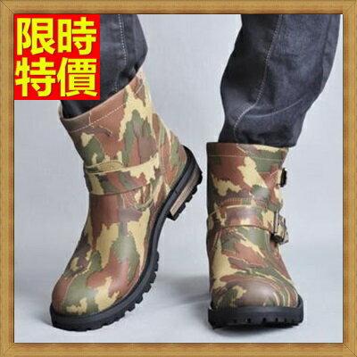~真皮馬丁靴男中筒靴子~ 英倫復古牛皮男鞋子67q36~ ~~米蘭 ~