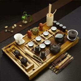 組合 茶壺 茶杯 茶海 實木茶盤泡茶茶具