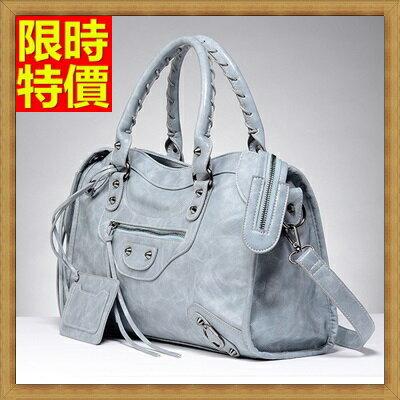 真皮機車包手提包-時髦別緻亮麗女包包2色68j19【法國進口】【米蘭精品】