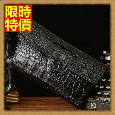 手拿包 真皮女包包-高檔品味低調奢華鱷魚紋女信封包3款3色68k12【義大利進口】【米蘭精品】