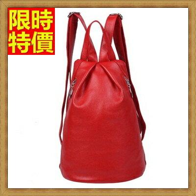 後背包  真皮女包包-歐美時尚潮純色女包包3色68n5【義大利進口】【米蘭精品】