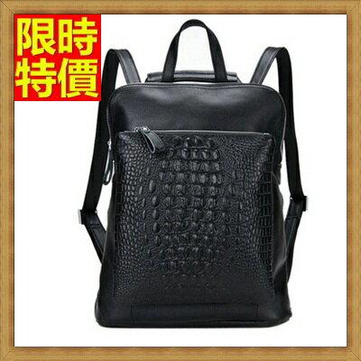 後背包真皮女包包-歐美時尚鱷魚紋牛皮雙肩包68n6【義大利進口】【米蘭精品】
