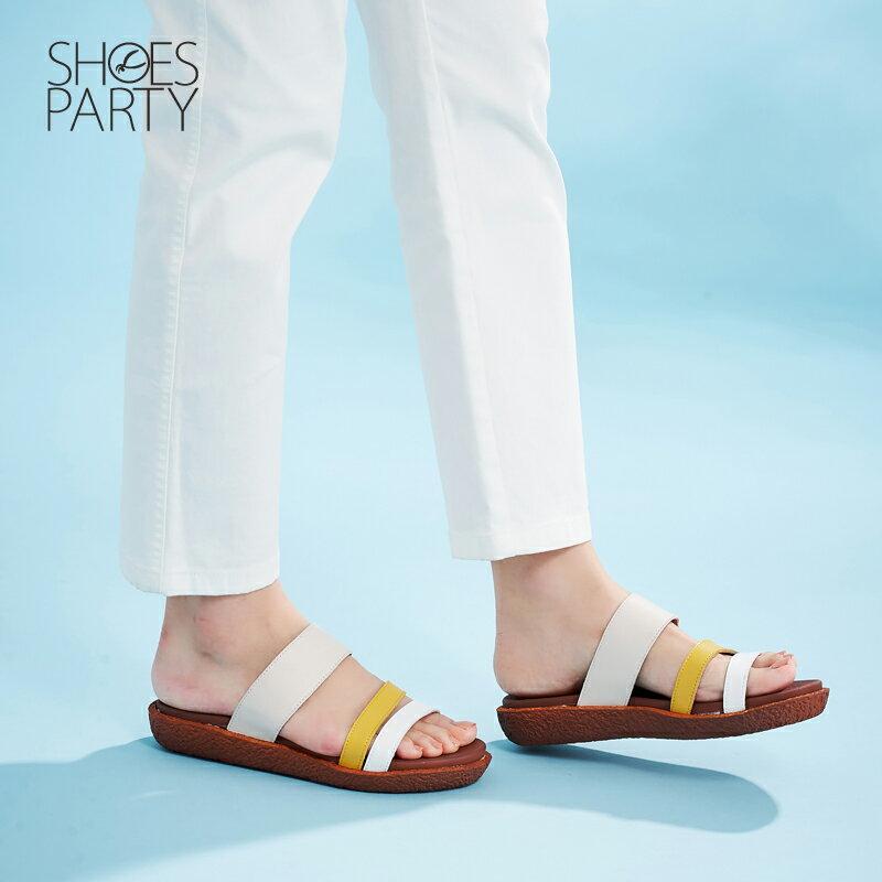【S2-17621L】Simple+久走不累撞色涼拖鞋_Shoes Party 1