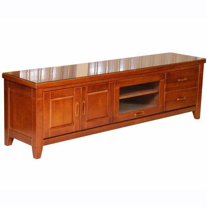 ~尚品傢俱~655~89 美崙 6.4尺半實木電視櫃 含玻   TV櫃  收納櫃  儲物櫃