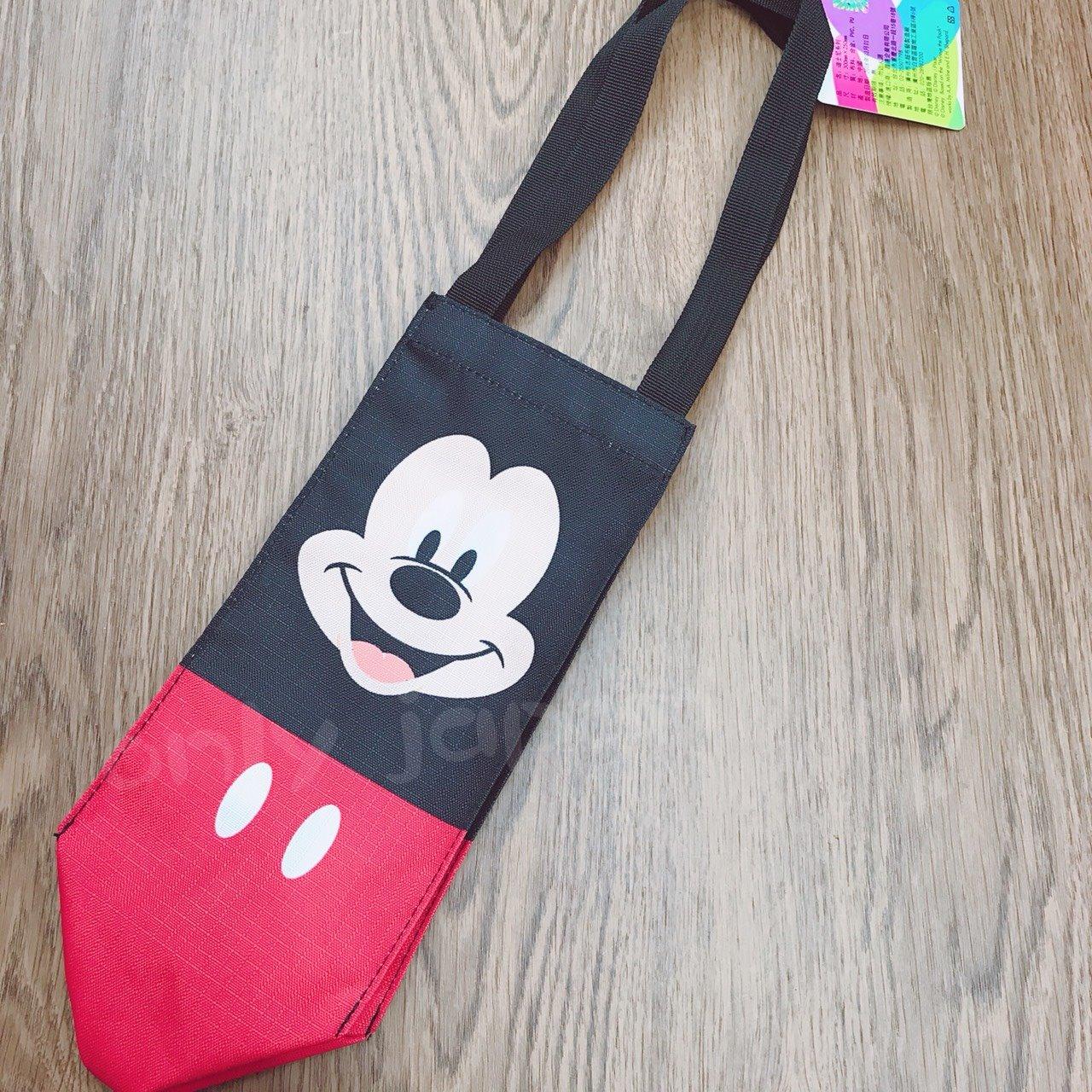【真愛日本】18042000016 水壺提袋-MK 迪士尼 米老鼠 米奇 提袋 水壺提袋 小物收納 日用品 環保袋 手提袋