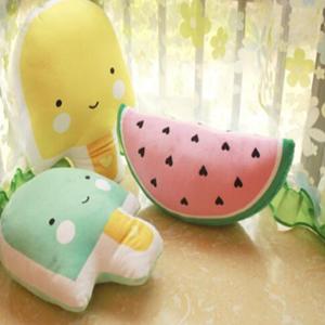 美麗大街【HB31E22946】仿真西瓜冰棒單雙面印花抱枕午睡枕頭座椅靠墊-黃色冰棒款(53*40cm)