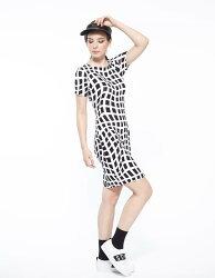 【JL JOCELIN】黑白格印花洋裝