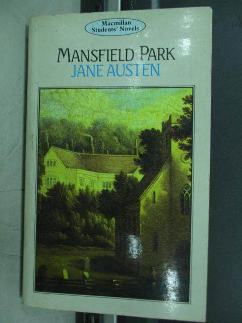 ~書寶 書T3/原文小說_JAQ~Mansfield park_Jane austen