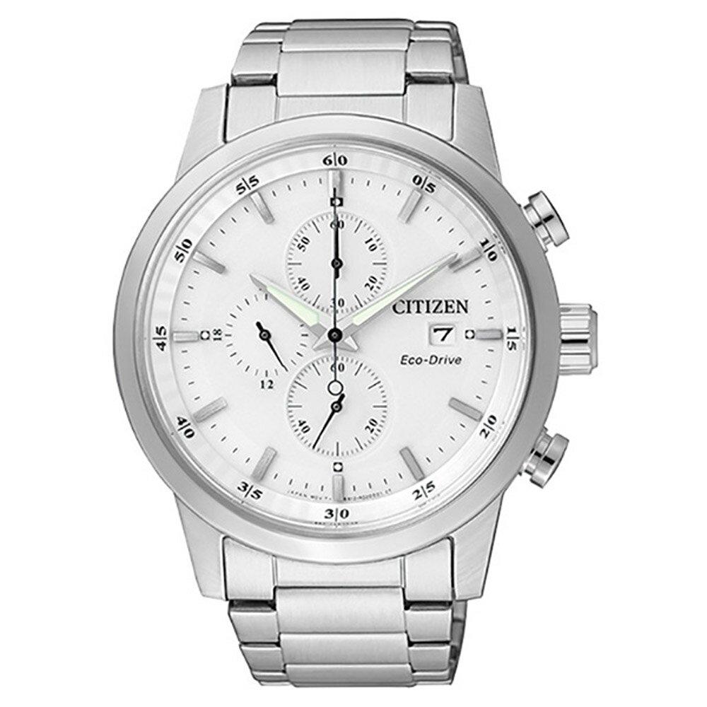 CITIZEN 星辰光動能(CA0610-52A)簡約三眼計時手錶
