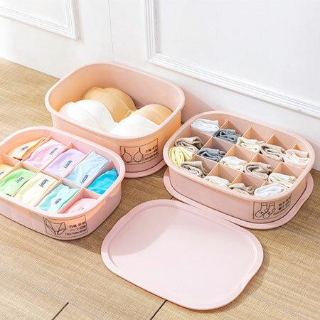 帶蓋15格襪子收納盒衣物襪子收納盒整理置物盒收納居家【N600245】
