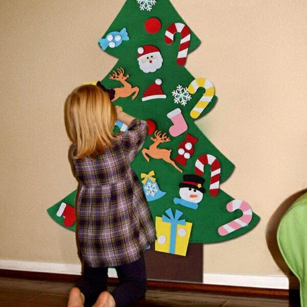 耶誕送禮⛄新款聖誕節 兒童手工益智DIY 立體手工 不織布 聖誕樹【H81134】 2
