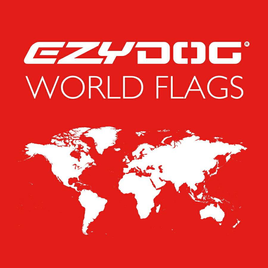 EZYDOG 終極胸背帶配件-World Flag 國旗客製化側貼