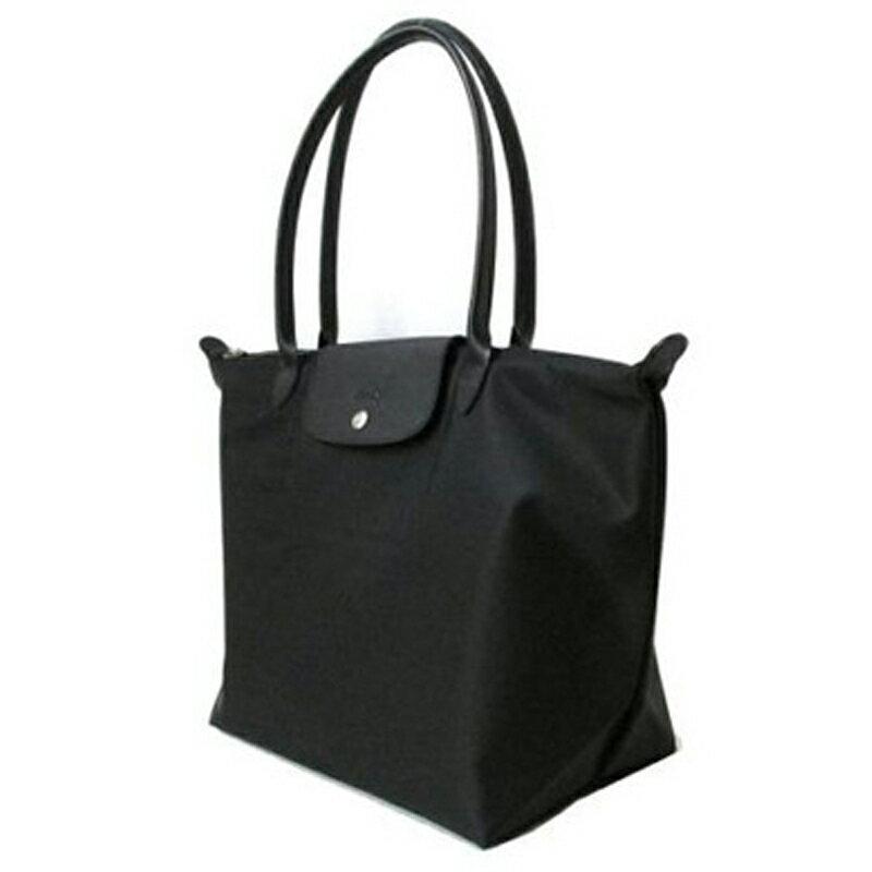 LONGCHAMP 1899 578 001新款Le pliage系列 1899加厚尼龍超柔軟材質大號手提購物袋 超大容量 黑色 3
