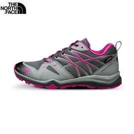 [ THE NORTH FACE ] 女 GORE-TEX低筒輕量登山鞋 葛里芬灰/桃粉紅 / 公司貨 NF00CDG7JU5