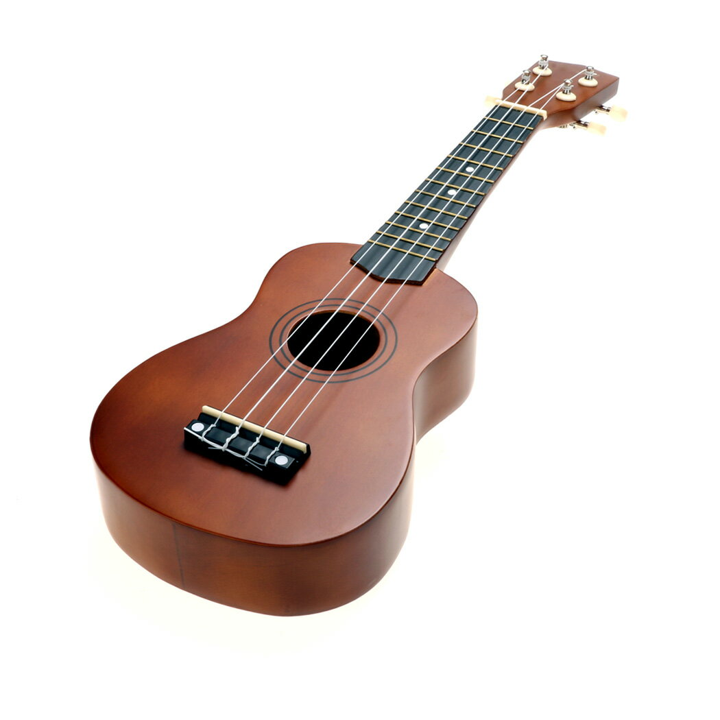 """21"""" Soprano Cute Wooden Coffee Ukulele Guitar With Bag 0"""