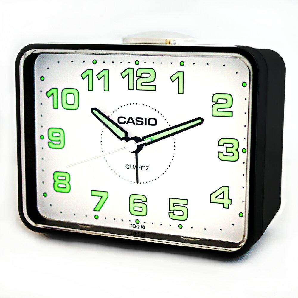 CASIO 卡西歐 TQ-218 簡約生活夜光桌上方型貪睡鬧鐘 1