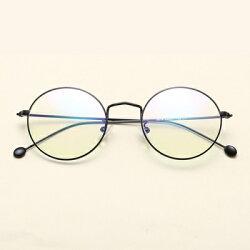 ★眼鏡框圓框眼鏡鏡架-簡約復古文藝百搭男女平光眼鏡6色73oe77【獨家進口】【米蘭精品】