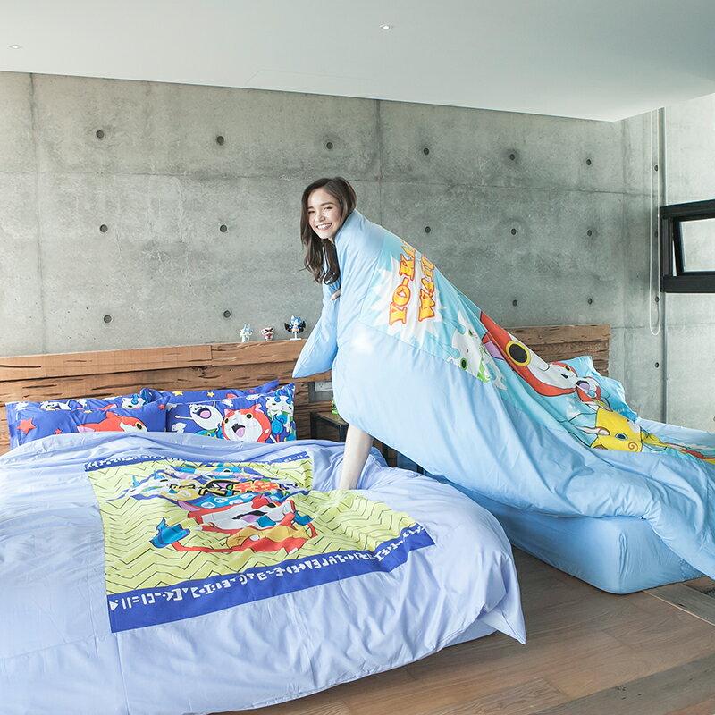 床包被套組 / 單人【妖怪手錶-YK武士慶典】含一件枕套,SGS認證,戀家小舖台灣製ABF112