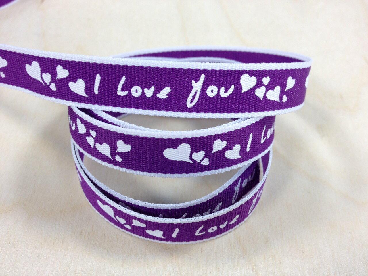 【Crystal Rose緞帶專賣店】love 愛心緞帶 12mm 3碼 (9色) 1