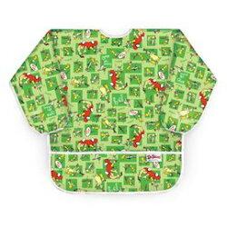 美國Bumkins防水兒童3-5歲 圍兜(長袖)-小紅車 BKAS-GE01【紫貝殼】