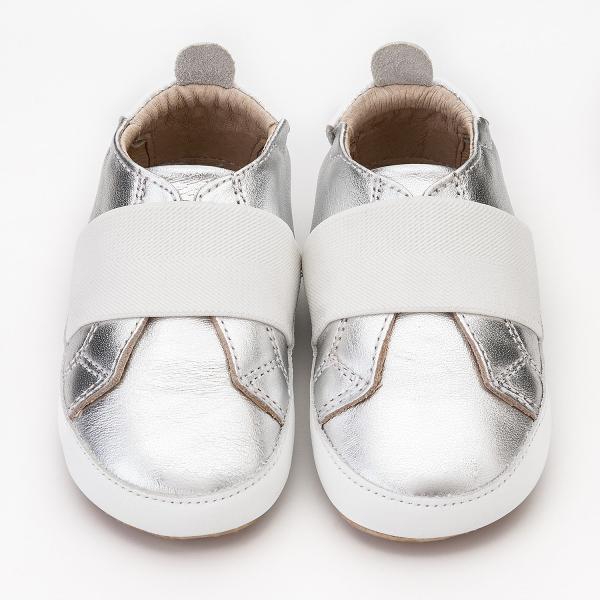【澳洲OldSoles手工鞋】BambiniMaster(學走)-銀【飛炫寶寶】