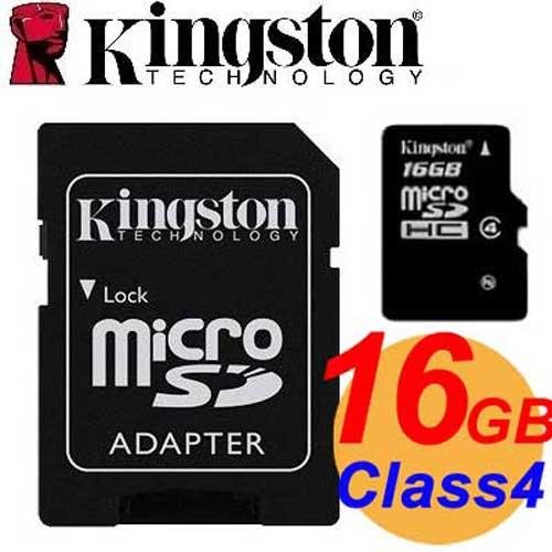 Kingston 金士頓 16GB microSDHC TF Class4 記憶卡