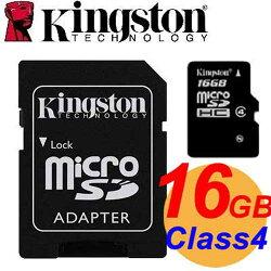 Kingston 金士頓 16GB microSDHC TF Class4 記憶卡 SDC4/16GB