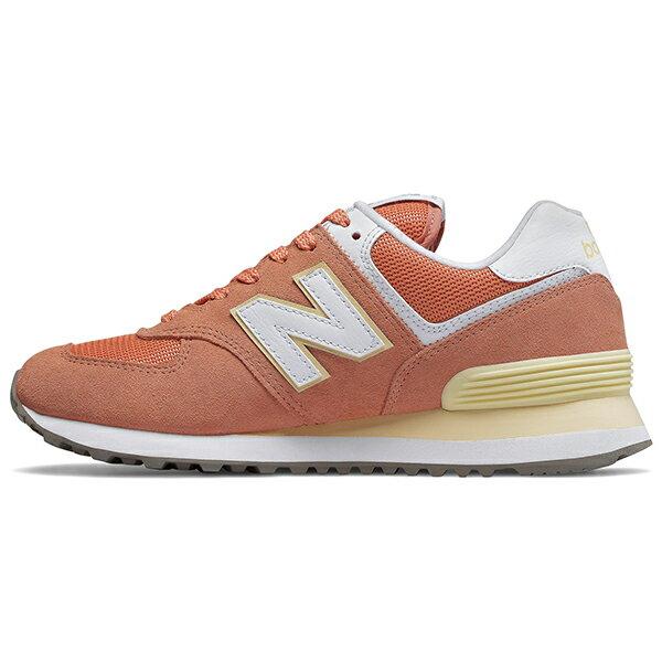 Shoestw【WL574ESF】NEW BALANCE NB574 復古休閒鞋 麂皮 馬卡龍 橘子汽水 粉橘鵝黃 女生 1