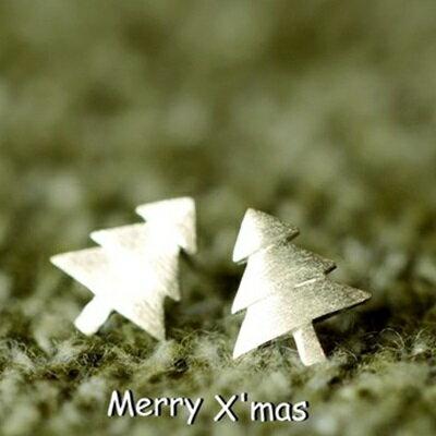 ~925純銀耳環耳飾~甜美可愛聖誕樹 生日情人節 女飾品73gk33~ ~~米蘭 ~