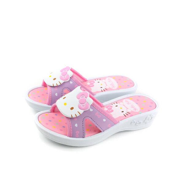 HelloKitty凱蒂貓涼鞋拖鞋童鞋粉紅粉紫中童818124no762