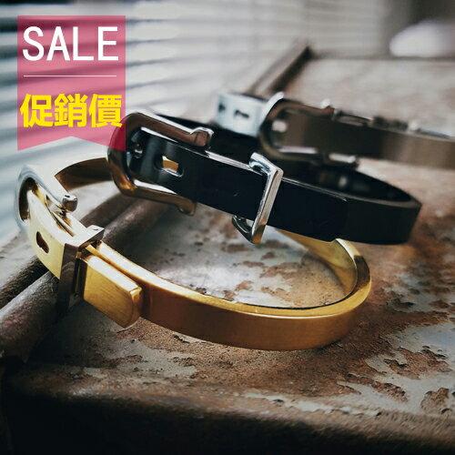 PocoPlus 潮流 扣皮帶情侶手環 上流收藏 原創 ~AC023~