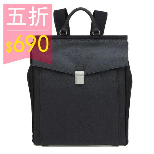 ~全店399~PocoPlus 黑色後背包 來自星星 都敏俊 都教授款 電腦包 手提包 大